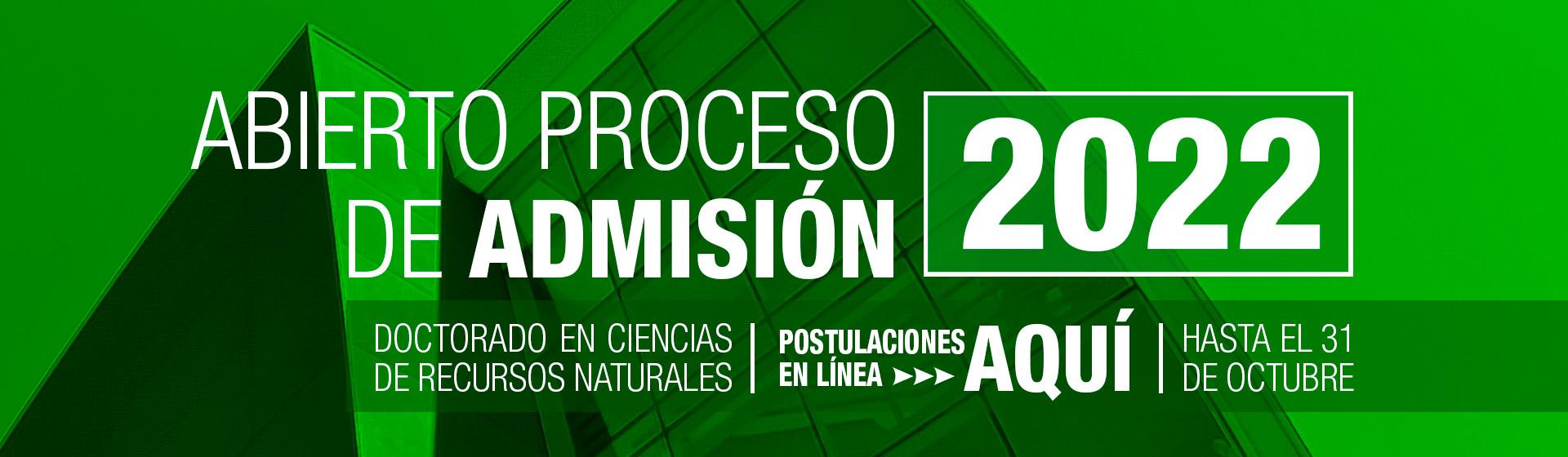 Admisión 2022 doctorado en ciencias de recursos naturales UFRO